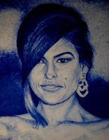 People - Eva Mendez - Ink On Paper