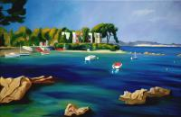 Seaside - Port De Lolivette - Oil On Canvas