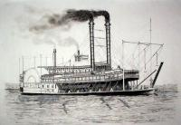 Riverboats - Riverboat  J M White - Ink