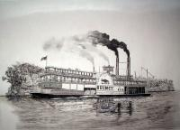 Riverboats - Riverboat Quincy - Ink