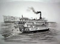 Riverboats - The Delta Queen - Ink