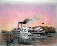 Riverboats - Riverboat Saint Paul - Mixed Media