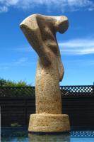 Stooping Figure Iiib - Reconstituted Stone Sculptures - By Gordon Adams, Direct Carving Sculpture Artist