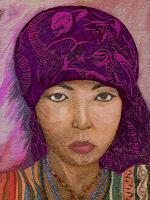 Female Villagerse - Color Pencils Drawings - By Brenda Spencer, Portraits Drawing Artist