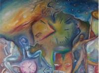 Expressionism - Tempus Fugit - Oil On Canvas