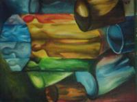 Abstract - Sides And Shades 2010 - Oil On Canvas