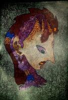 The Lonesome Girl - Pen Pencil Colored Pencils Mixed Media - By Sonya Novakovic, Dont Know Mixed Media Artist