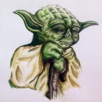 Fantasy And Magics - Yoda - Watercolor