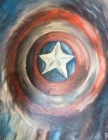 Fantasy And Magics - The Captains Shield - Oil On Canvas