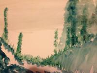 Green Fields - Water Color Paintings - By Claudia Soeiro, Water Color Painting Artist