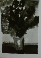 China Ink - Tree On A Vase - China Ink