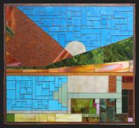 Abstract Geometric - La Ranch House With Pool And Gardens Abstract - Stained Glass Mosaic