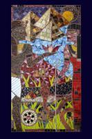 Religious And Mythical Images - Egyptian Wedding Artists Tatiana And Elias Weddin Portrait - Stained Glass Mosaic