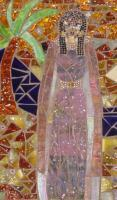 From My Great Ladies Collectio - Cleo As Fashion Icon - Stained Glass Mosaic
