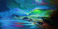 Green Glow - Prof Qlty Oil On 3X P Cnv Paintings - By Joseph Ruff, Immpresionism Painting Artist