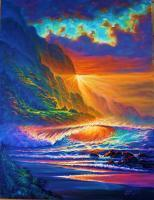 Sunset - Napali Coast Sunset - Kauai Hawaii - Prof Qlty Oil On 3X P Cnv