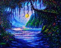 Hearts Path To Paradise - Prof Qlty Oil On 3X P Cnv Paintings - By Joseph Ruff, Nature Painting Artist