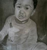 Portrait - Cute Baby - Pencil And Paper