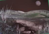Moondust - Encaustic Wax Paintings - By Sally Morris, Surreal Painting Artist