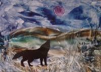 Fantasy - Call Of The Wolf - Encaustic Wax