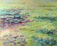 Pond - Water Lilies - Oil On Canvas