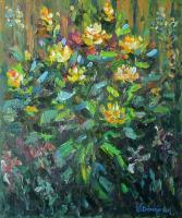 Flowers - Yellow Roses - Oil On Canvas