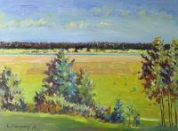 Landscape - Summer Midday - Oil On Canvas