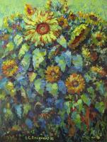 Flowers - Sunflowers - Oil On Canvas