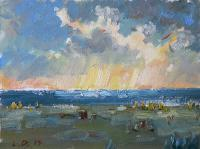 Seaside - Baltic Sea Before The Storm - Oil On Canvas