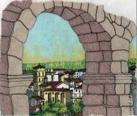 Landscape - Segovia Spain - Mixed Media