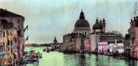 Venice  Italy - Photomarkersand Color Pencil Mixed Media - By Anna Helena Fisher, Seascape Mixed Media Artist