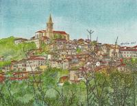 Landscape - Todi Umbria Italy - Mixed Media