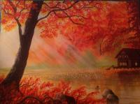 My Own - Maple Tree Sunlight - Water Color