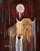 American Indian Spirit World - Buffalo Spirit - Oil