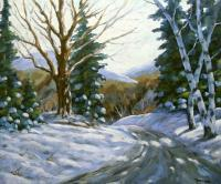 Art Sell Directly By The Artis - Light Breaks Through The Pines_Sold - Oil On Canvas