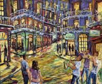 Art Sold Directly By The Artis - New Orleans Jazz Night By Richard T Pranke_Sold - Oil On Canvas