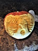 Surealworld Color Illustration - Heal Our Land - Pumpkin Sculpting