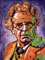 Portrait - William Butler Yeats - Acrylic