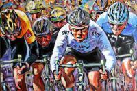 Figurative - Mark Cavendish - Sprint Finish - Acrylic