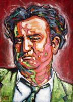 Portrait - Brendan Behan - Acrylic