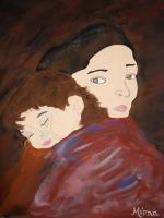 Acrylic - Mother And Son - Acrylic