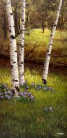 Aspen Glen - Digital Giclee Image On Canvas Paintings - By Walter Fenton, Realism Painting Artist