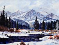 Winters Touch - Acrylic Paintings - By Walter Fenton, Realism Painting Artist