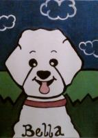 Acrylic Paintings - Commision For Carlosmatthew - Bella The Bichon - Acrylic