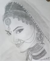 Portrait - Sketc On Paper Drawings - By Radha Sharma, Sketching Drawing Artist