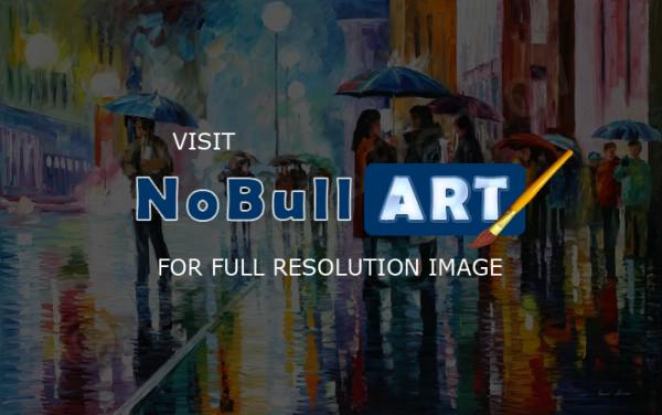 Cityscapes - Bus Stop - Under The Water - Oil