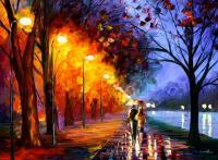 Street - Paint Paintings - By Leonid Afremov, Scenery Painting Artist