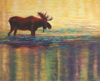 In Golden Pond - Pastel Paintings - By Janet Sullivan, Realistic Painting Artist