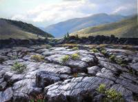 Craters Of The Moon National Park - Pastel Paintings - By Janet Sullivan, Landscape Painting Artist