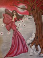 Akaneiros Flight - Acrylic Paintings - By Carmelita Lake, Fantasy Painting Artist